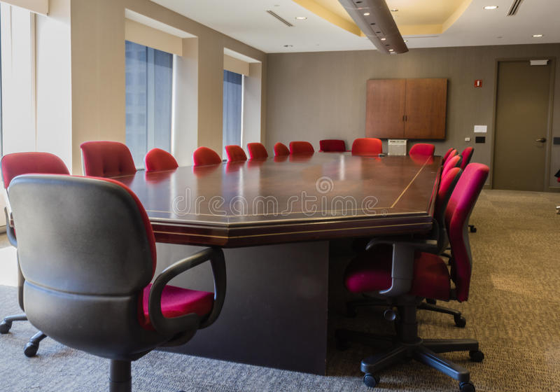 Corporate Conference Room. For board meetings stock photo