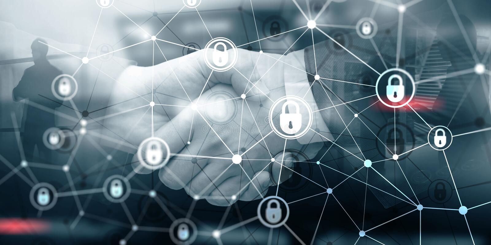Corporate Data protection. Cyber Security Privacy Business Internet Technology Concept stock illustration