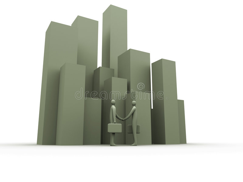 Corporate deal stock illustration