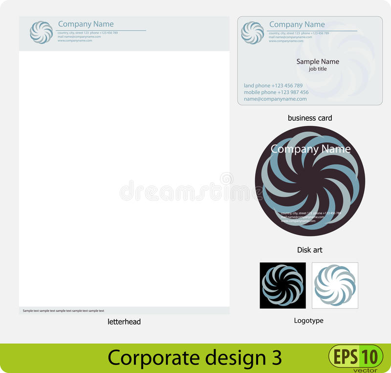 Corporate Design Pack Stock Images
