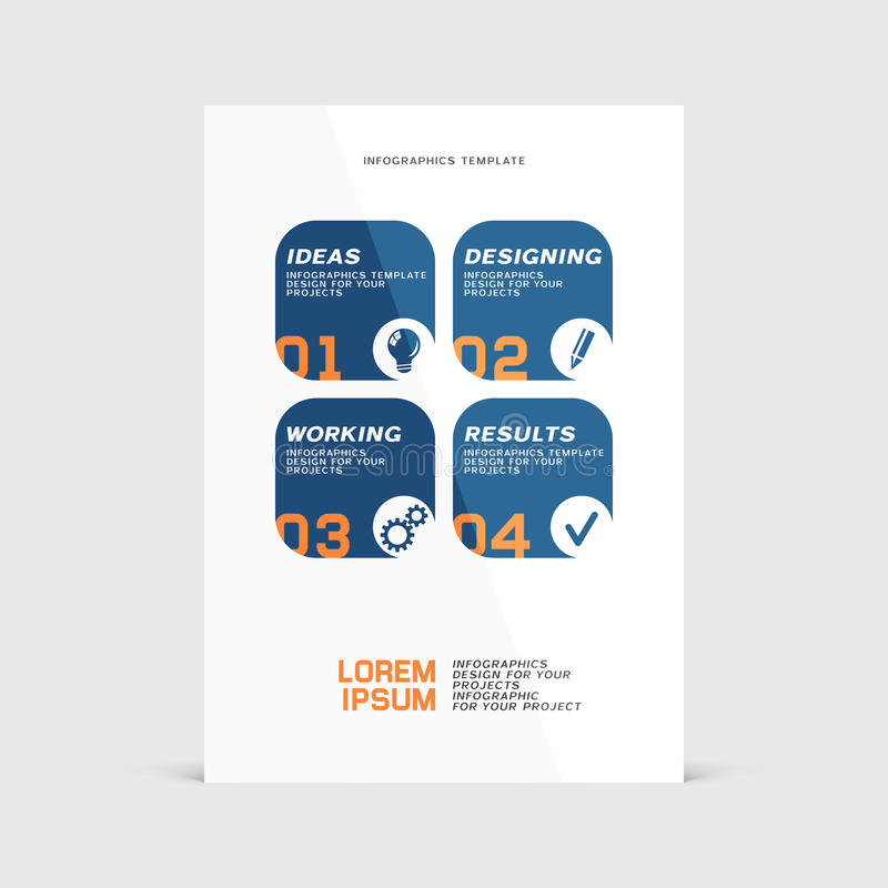 Corporate design of paper flier or brochure cover royalty free illustration