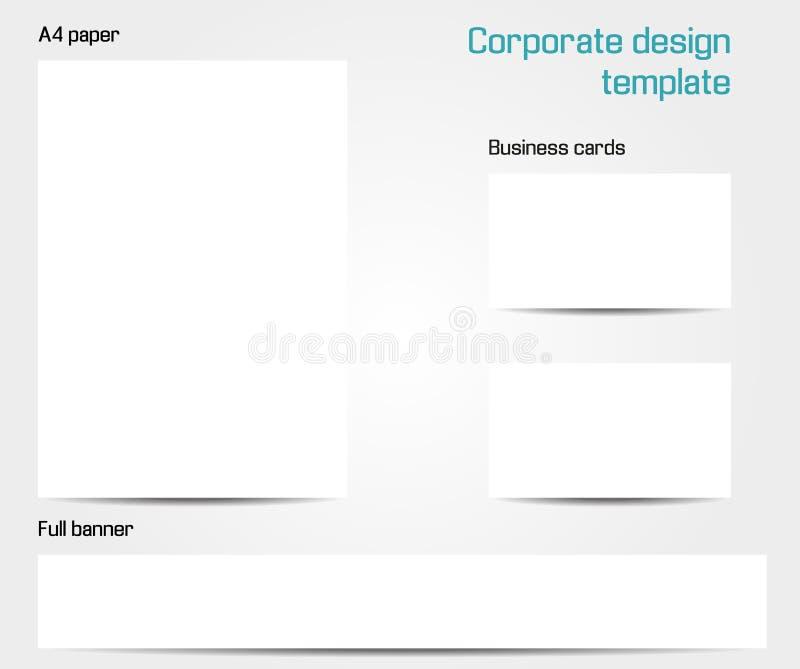 Corporate design template vector illustration