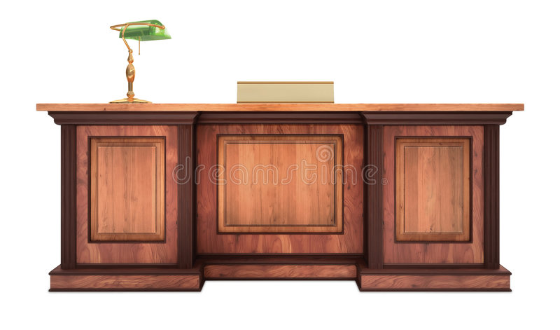 Corporate Desk stock illustration