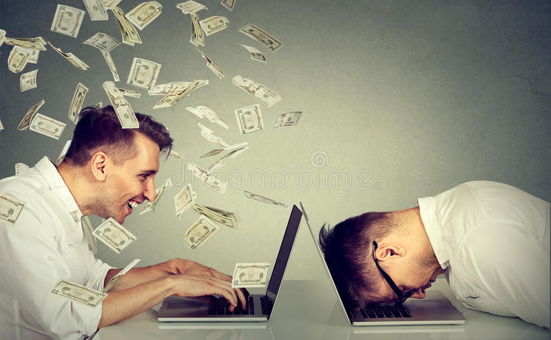 Corporate employee income compensation economy concept royalty free stock image
