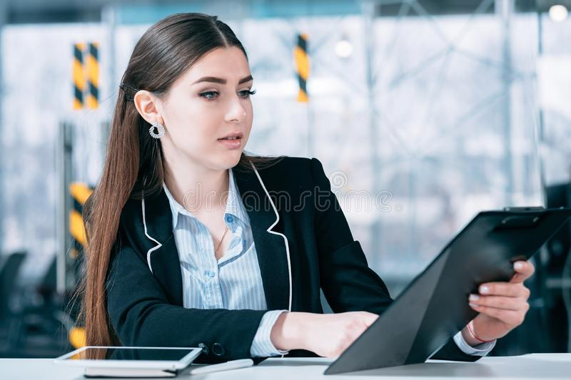 Corporate executive work planning business matters royalty free stock image