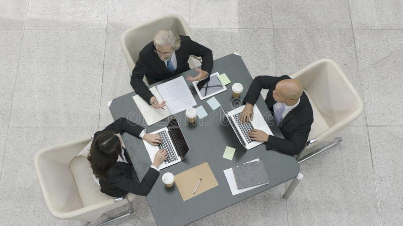 Corporate executives meeting in office royalty free stock photos