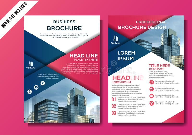 Corporate flyer background template vector illustration royalty free illustration