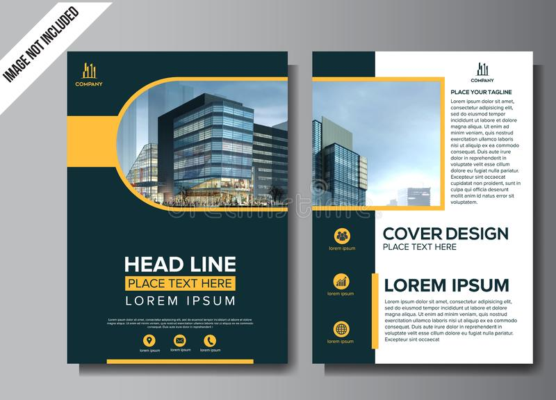 Corporate flyer layout template vector illustration. Corporate flyer layout template illustration royalty free illustration