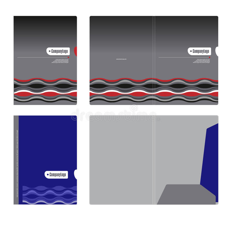 Corporate folder, cover template and cutting stock photography