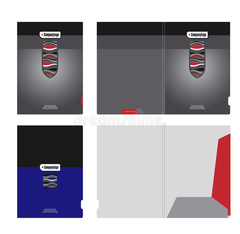 Corporate folder, cover template and cutting stock image