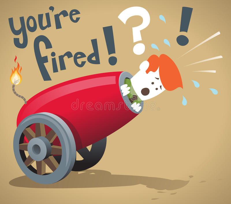 Download Corporate Guy gets fired stock vector. Image of downsizing - 33603390