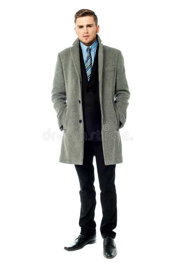 Free Corporate Guy Wearing Long Overcoat Royalty Free Stock Image - 35962666