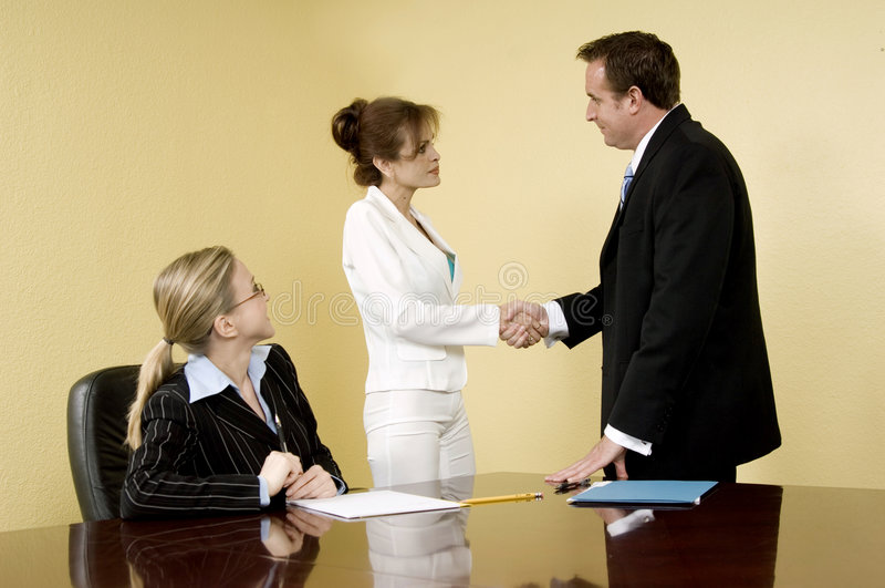 Corporate hand-shake royalty free stock images