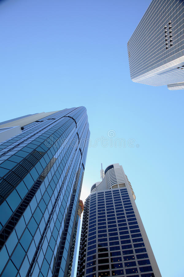 Corporate headquarters skyscrapers stock images