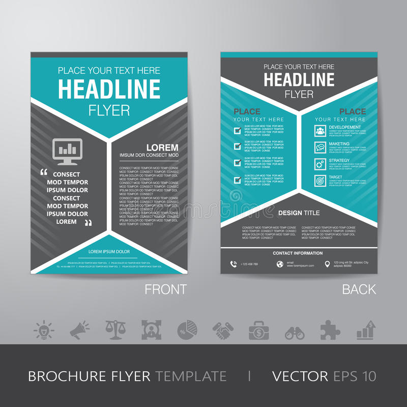 Corporate Hexagonal Brochure Flyer Design Layout Template In A4