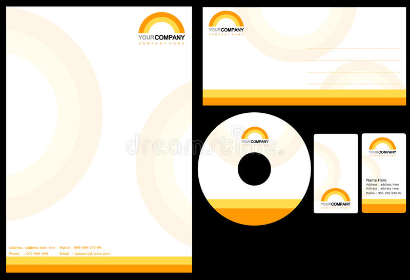 Download Corporate identity stock vector. Image of brochure, layout - 24386313