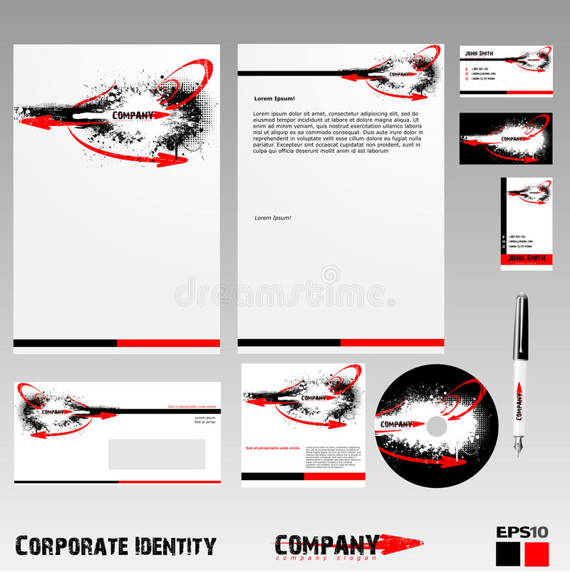 Download Corporate identity stock vector. Image of unique, packing - 25191935