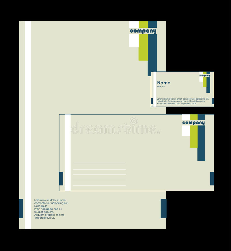 Download Corporate Identity stock vector. Image of frame, note - 5087738