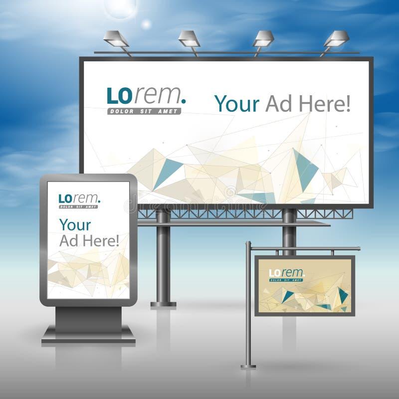 Corporate identity. Billboard, sign, light box stock illustration
