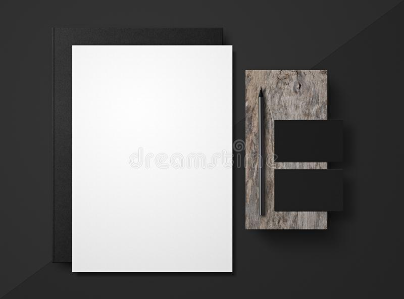 Corporate Identity. Branding Mock Up. Set of elements on a gray background. Blank objects for placing your design vector illustration