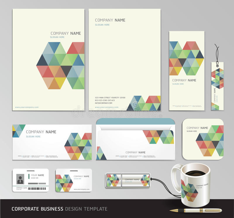 Corporate identity business abstract background. vector illustration