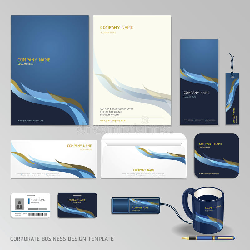 Corporate identity business set design. royalty free illustration