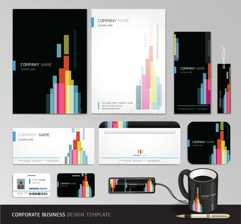 Corporate identity business set design. vector illustration