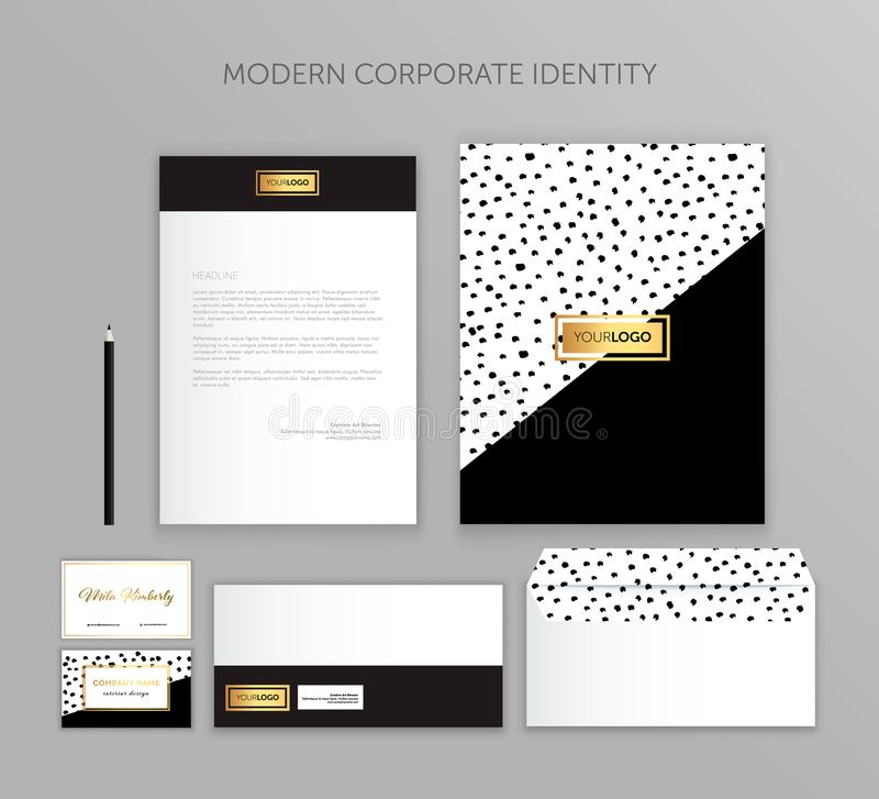 Corporate identity business set. Modern stationery template design. Documentation for business. Set of envelope, card, folder, etc. Vector illustration.Abstract royalty free illustration