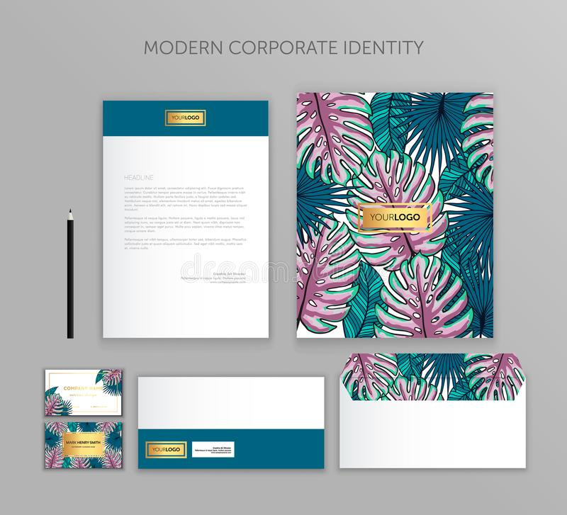 Corporate identity business set. Modern stationery template design. Documentation for business. stock illustration