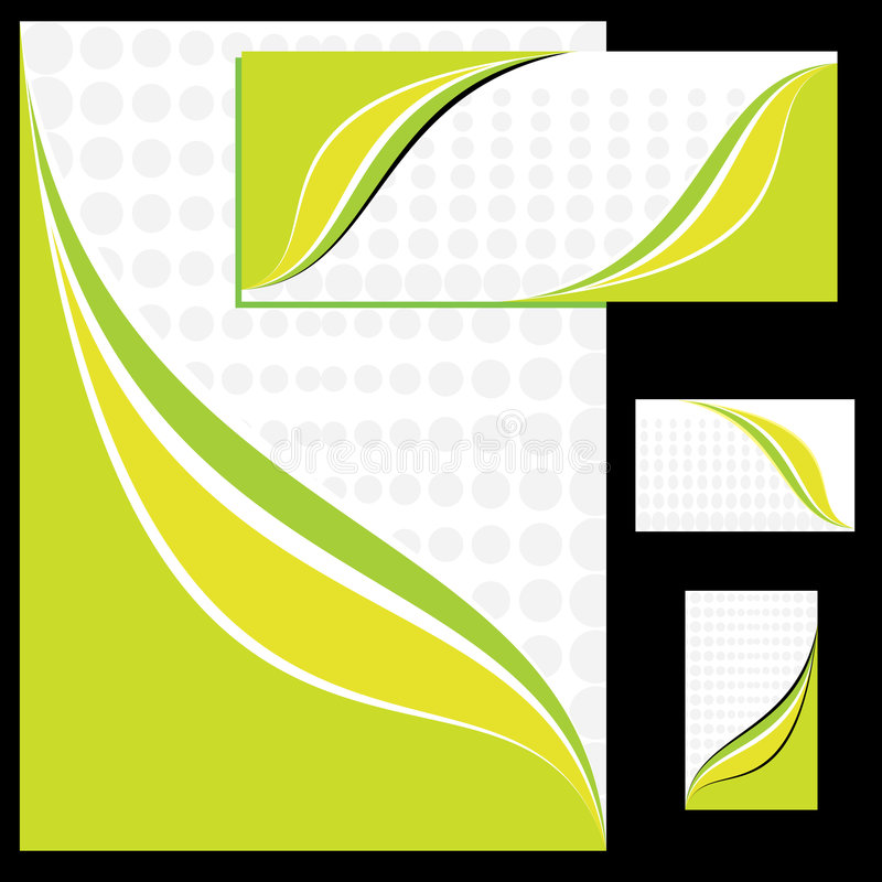 Corporate identity design stock illustration