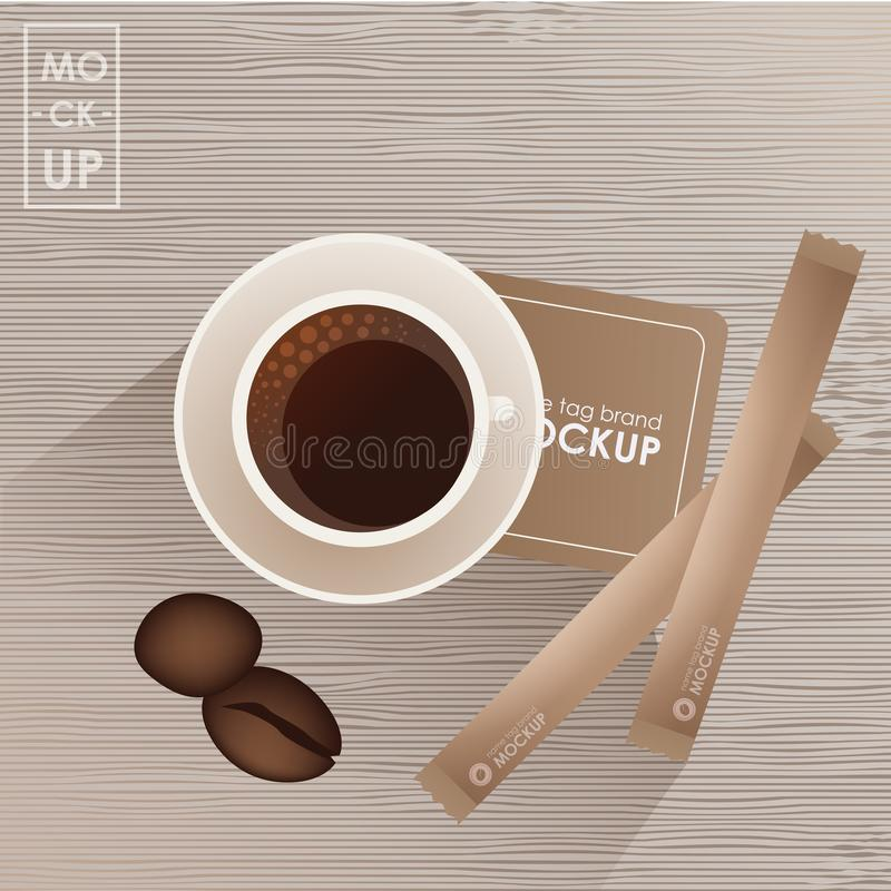 Corporate identity design template set for coffee shop or house. Mock-up package. Vector concept stock illustration
