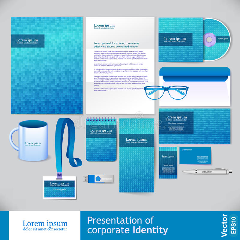 Free Corporate Identity Design Vector Stock Images - 63547764