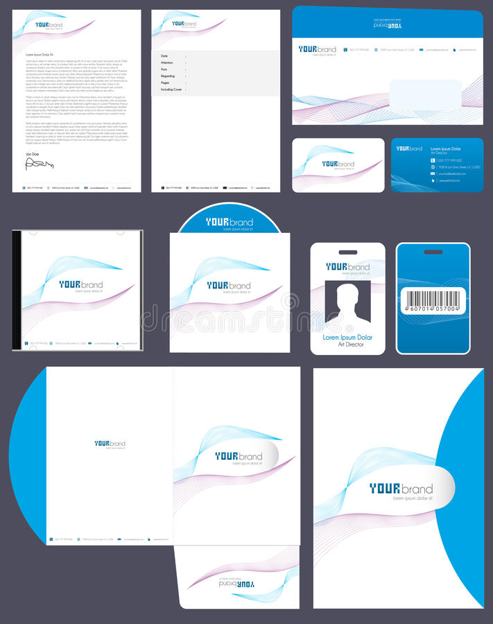 Corporate Identity Pack Royalty Free Stock Image