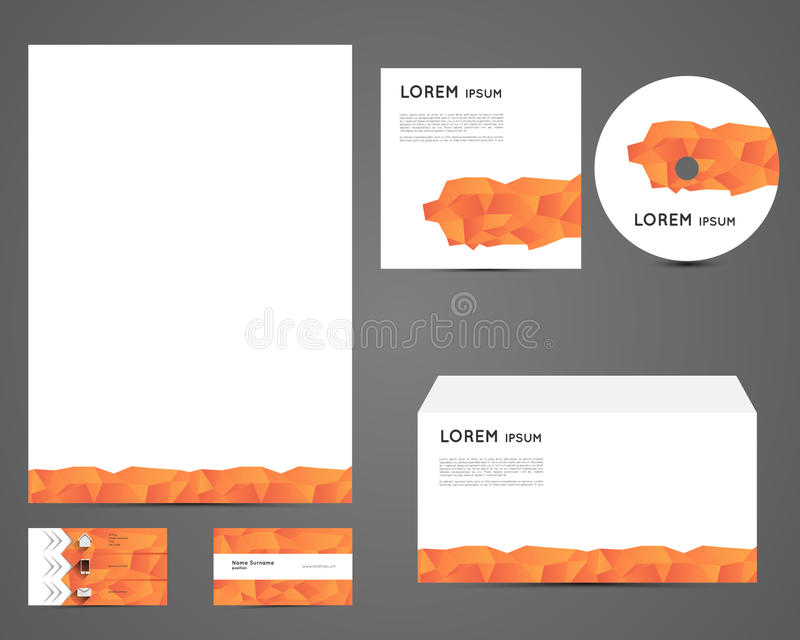 Download Corporate identity set stock vector. Illustration of banner - 39515209