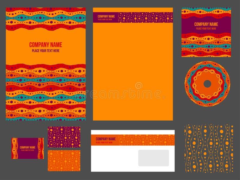 Corporate identity (stationery) for company stock illustration