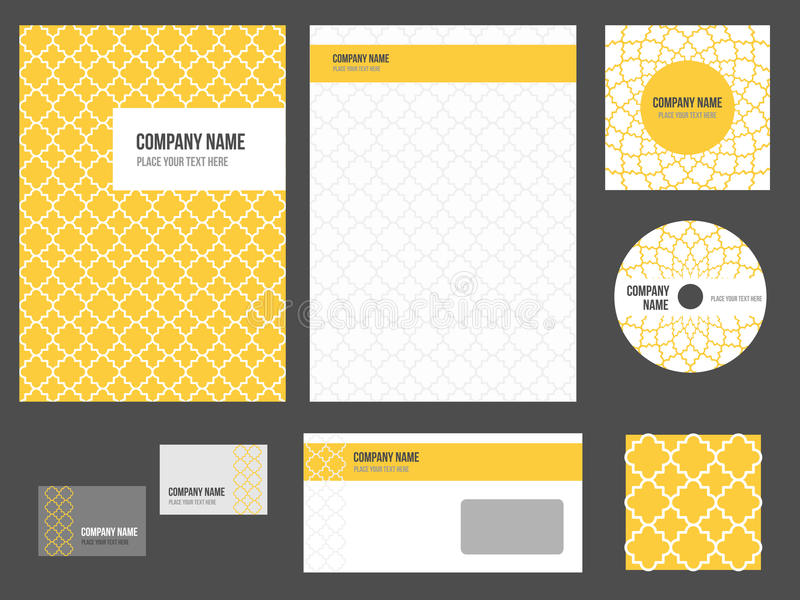 Corporate identity - stationery for company vector illustration