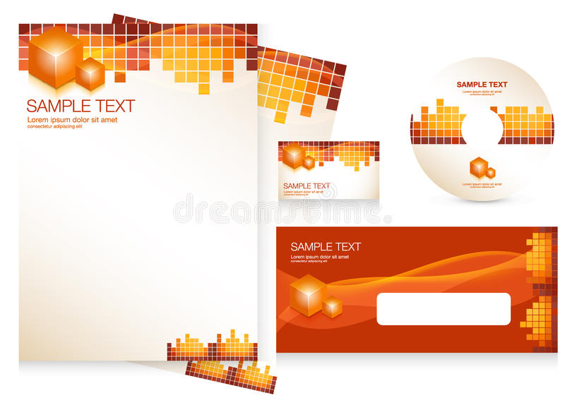 Download Corporate Identity Template Stock Vector - Image: 18098902