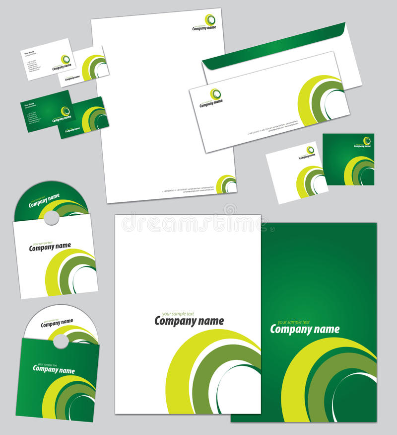 Download Corporate Identity Template Stock Vector - Illustration: 27059371