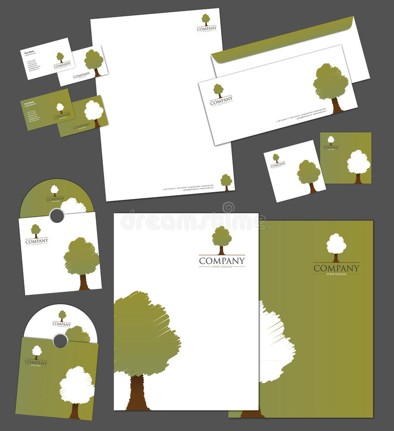 Download Corporate Identity Template Stock Vector - Illustration: 27059391