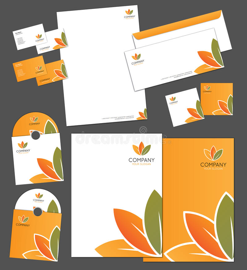 Download Corporate Identity Template Stock Vector - Image: 27059415