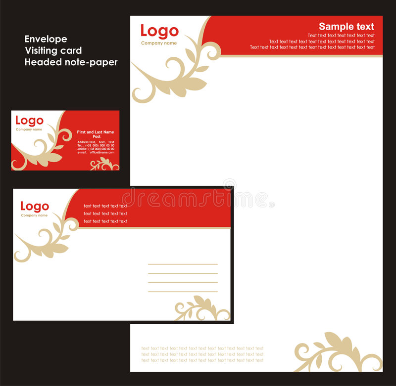 Download Corporate Identity Template Stock Vector - Image: 4939454