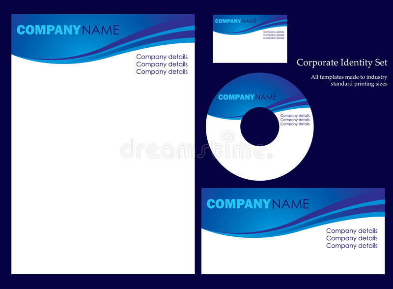 Download Corporate Identity Template Stock Vector - Illustration: 6225554