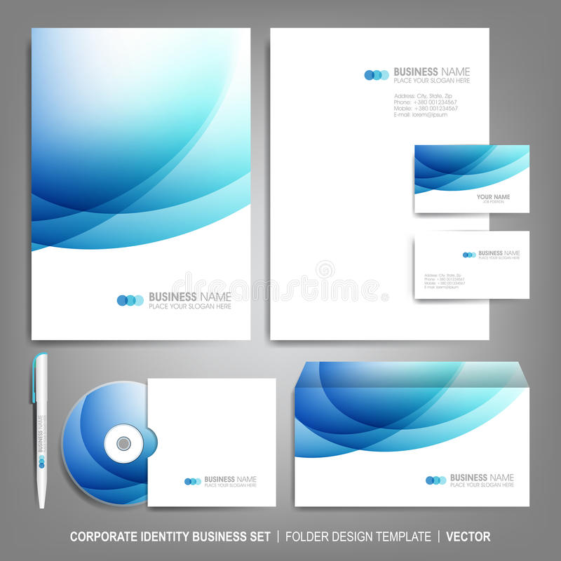 Corporate identity template for business artworks royalty free illustration