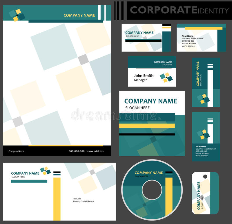 Corporate Identity Template. Stock Vector - Illustration of office ...