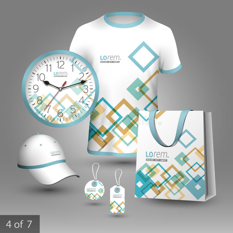 Corporate identity template and promotional gifts royalty free illustration