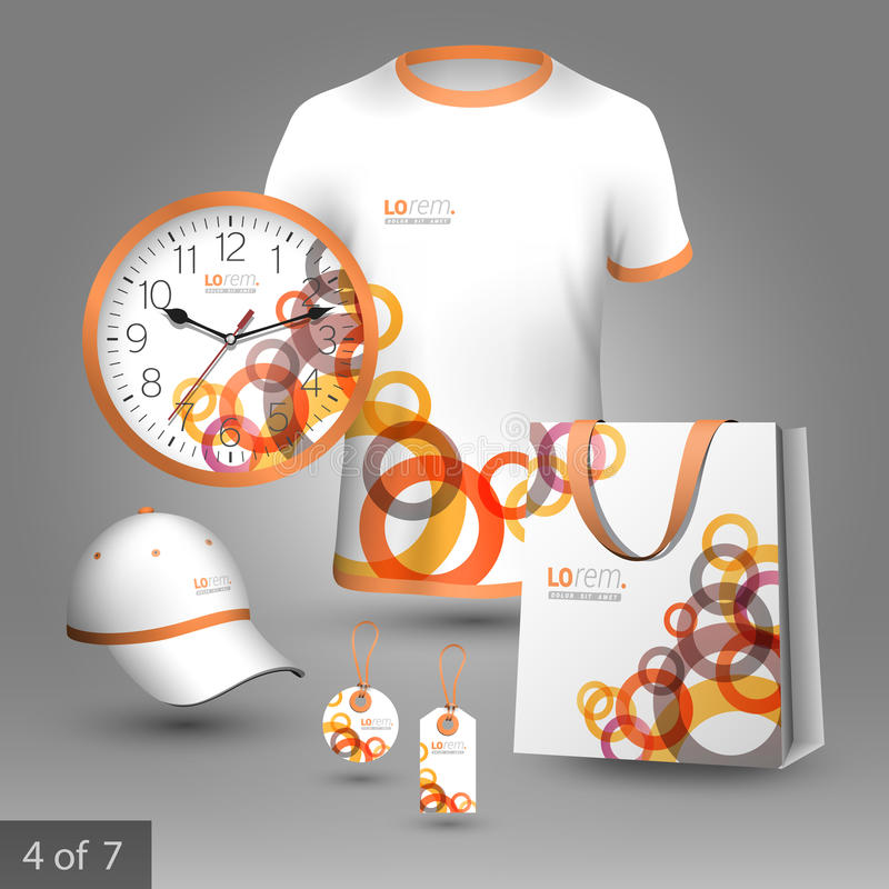 Corporate identity template and promotional gifts vector illustration