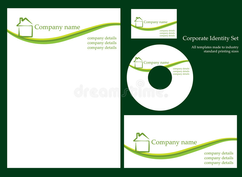 Corporate Identity Template - Set 1 Royalty Free Stock Photos