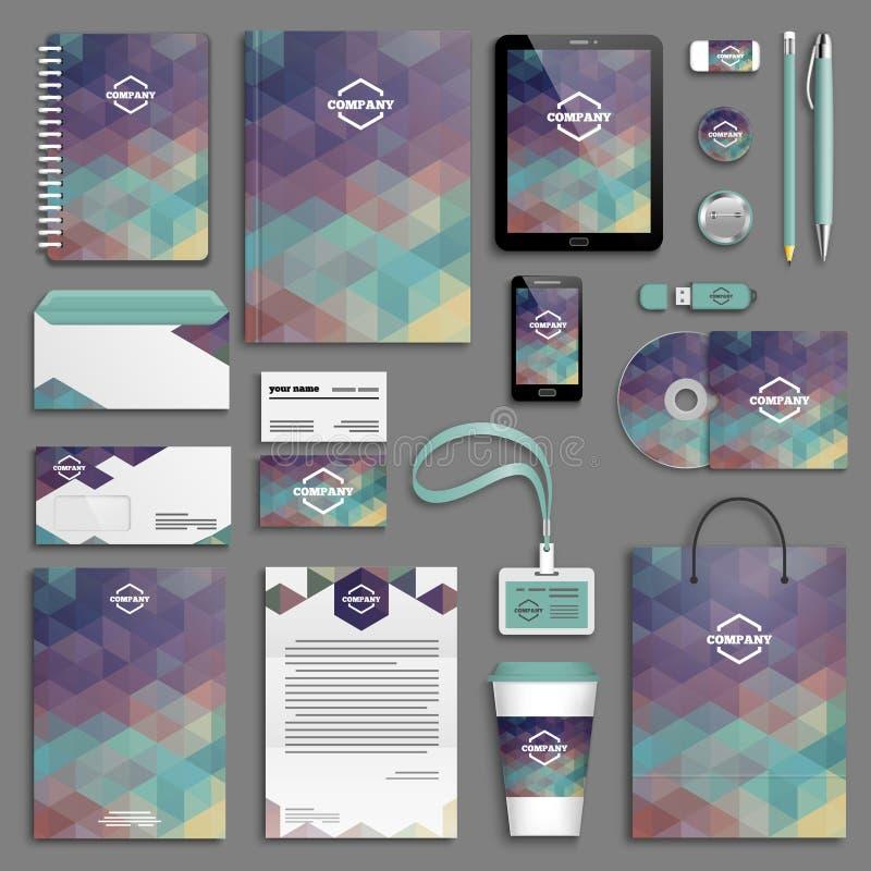 Corporate identity template set vector illustration