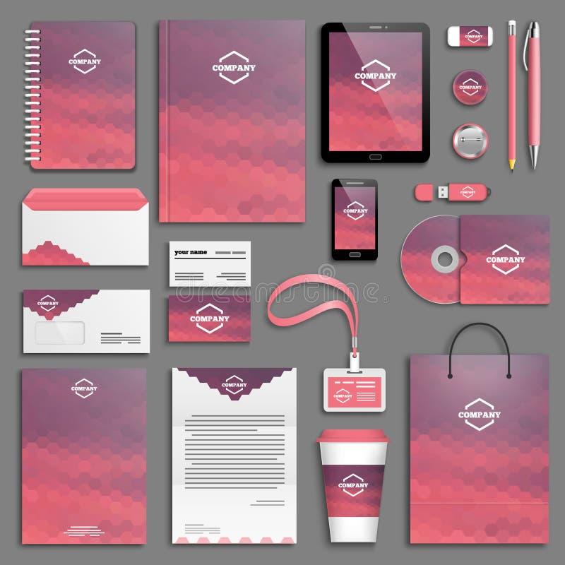 Corporate identity template set stock illustration
