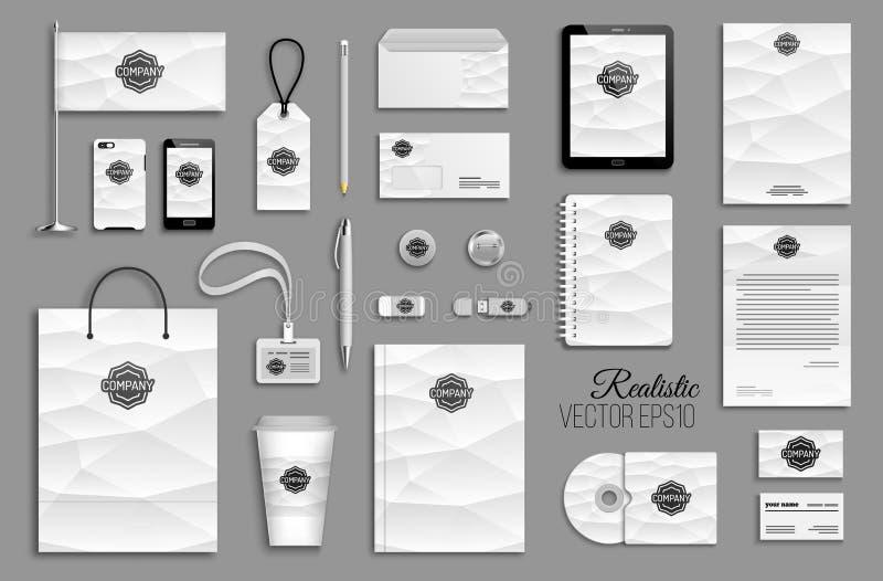 Corporate identity template set. royalty free illustration